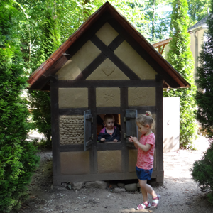 Fachwerkhaus im Garten