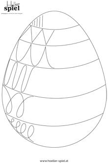 Ostereier mit Schwung